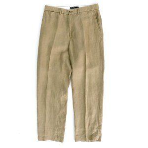POLO RALPH LAUREN Men's Beige Linen Pants 33 30